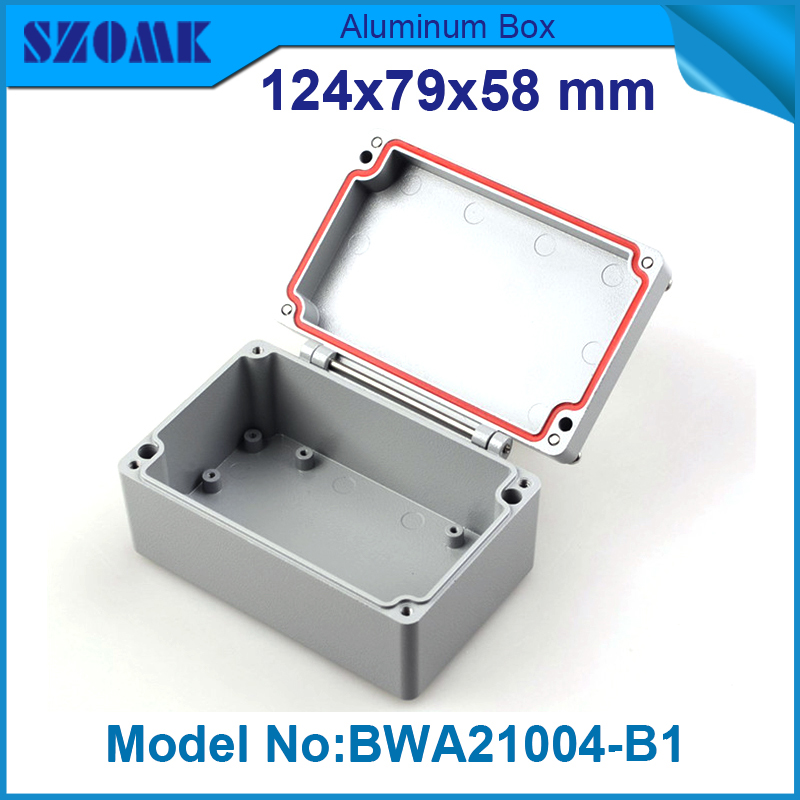 4 pieces junction box electronic metal waterproof enclosure 58(H)x79(W)x124(L) mm waterproof enclosure junction box 2in2out