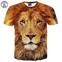 Mr.1991INC&Miss.GO New men's t-shirt 3d short sleeve 3d tshirt print grassland king lion t shirt summer tops G1058