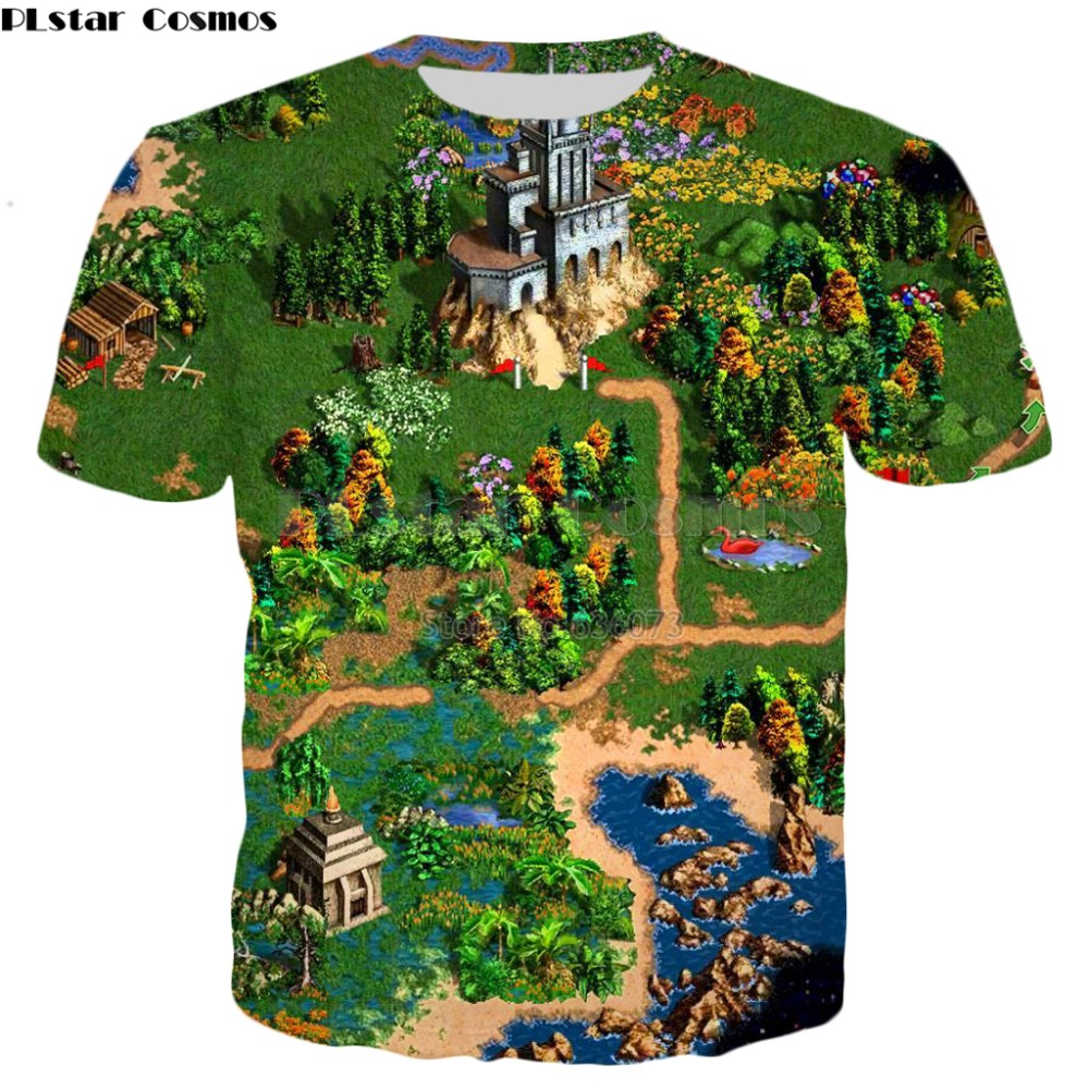 PLstar Cosmos 2019 New Fashion Summer T Shirt Game Heroes Of Might & Magic Print Tshirt Unisex Casual Tee Shirts Drop Shipping