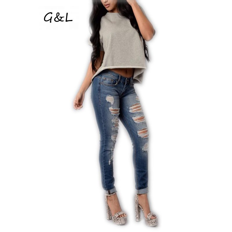 Compare Prices on Cut up Women Jeans Pants- Online Shopping/Buy ...