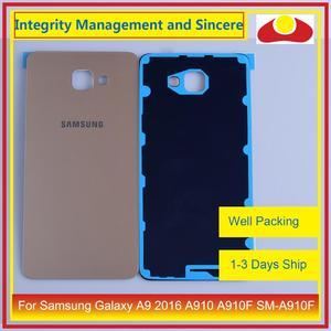 Image 5 - Oryginał do Samsung Galaxy A9 Pro A910 A9100 A910F obudowa klapki baterii tylna część obudowy obudowa Shell wymiana