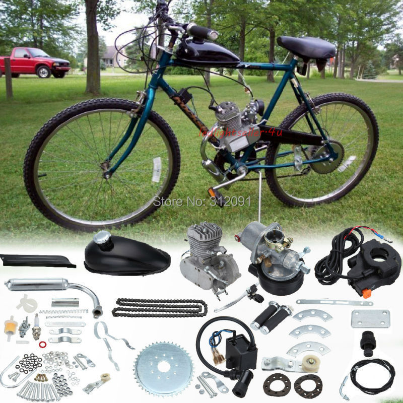 Ship From Us Motorized Bicycle Bike 80cc 2 Stroke Petrol