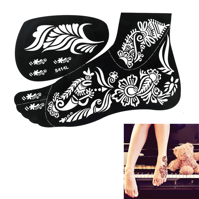 1pc Hot Sale High Quality Black Simple Henna Tattoo Sticker ...