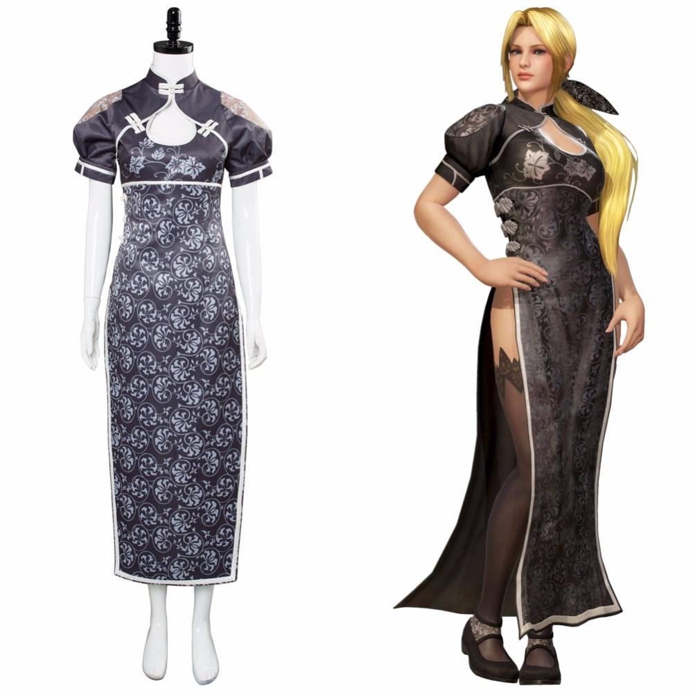 Jeu mort ou vivant 6 Helena Cosplay Costume Cheongsam robe tenue japonaise pour fille femmes Halloween fête jeu de rôle ensemble complet
