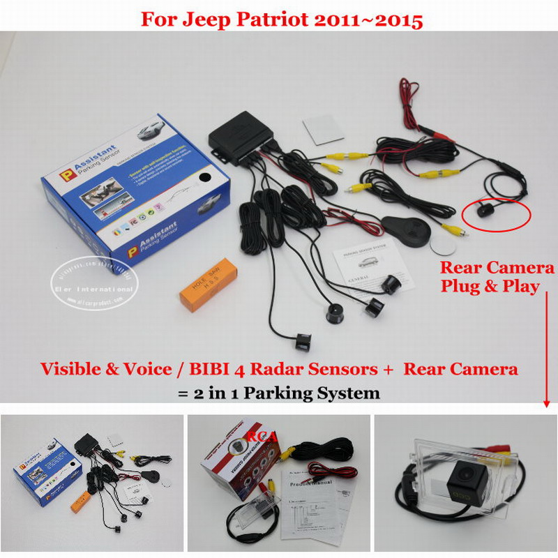 Liislee For Jeep Patriot 2011 2015 Car Parking Sensors Rear View Back Up Camera 2 in