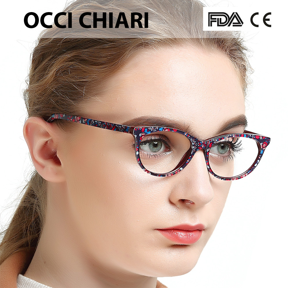f90c47a53ecc Detail Feedback Questions about OCCI CHIARI Acetate Eyeglasses Frame For Women  Optical Clear Lens Spring Hinge Optical Glasses Frame Oculos Lunettes Gafas  ...