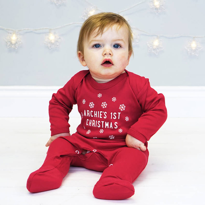 Christmas Baby Clothes Newborn Boy Girl Romper Tiny Cottons Winter Red Long Sleeve Jumpsuit Overalls Infant Baby Onesie