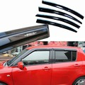 4pcs Windows Vent Visors Rain Guard Dark Sun Shield Deflectors For Suzuki Swift 2013