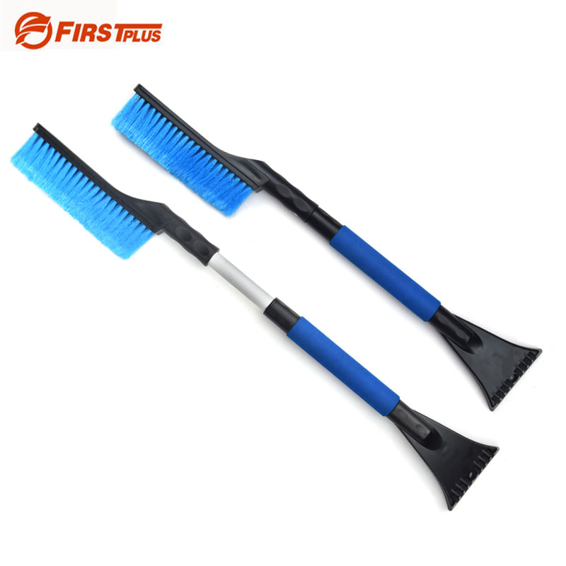 Retractable Winter Car Vehicle Snow Ice Scraper Shovel Removal Brush Shovels Squeegee 2 In 1