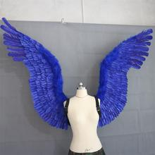 Big blue feather show wings, take pictures of wing props  Angel wings for dances, fashionable displays
