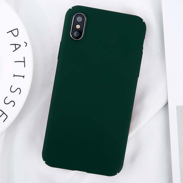 USLION For iPhone 11 Pro Max X Xs Max XR 8 7 Plain Phone Case Frosted