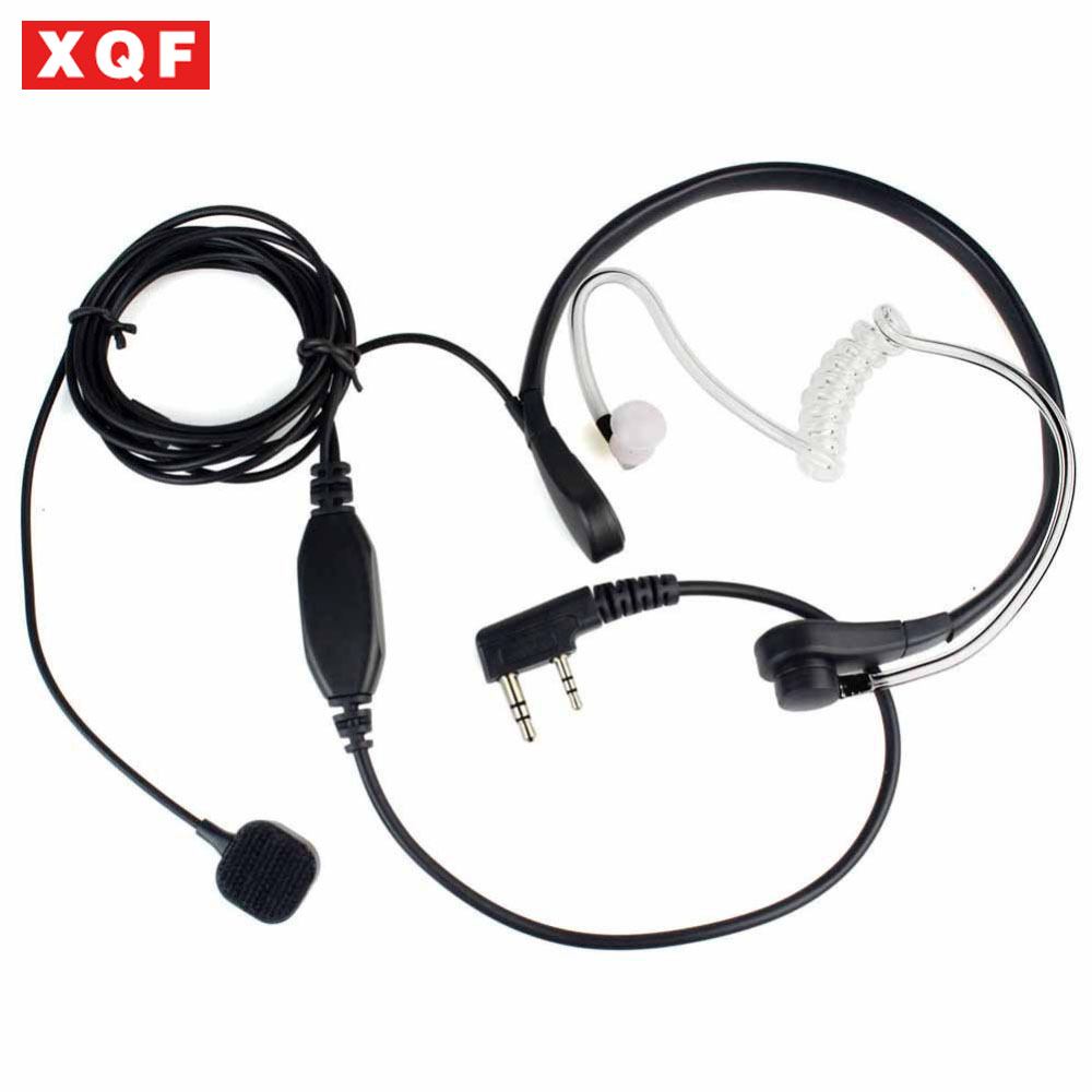 Luftschlauch Headset Ohrhörer Kehlkopfmikrofon Mic PTT für Tragbare Radio Walkie-talkie Baofeng UV-5R UV B5 GT-3TP UV-8HX UV-5RA