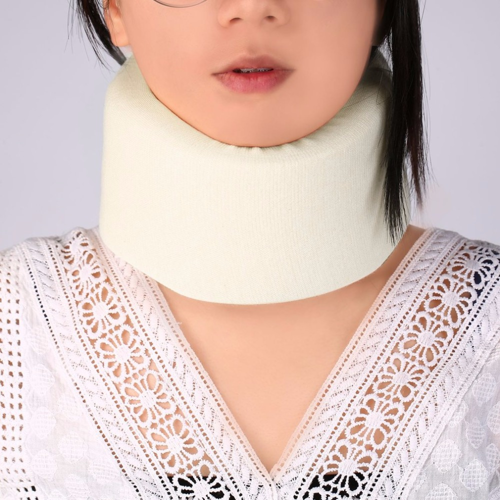 Safety Soft White Firm Foam Cotton Cervical Collar Neck Jaw Spine Head Brace Support Shoulder Pain Relief Adjustable Health Care