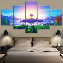 Top-Rated HD Printing Canvas Painting 3D Abstract Island In Sunset Type Poster Home Room Decorative Modern Living Framework