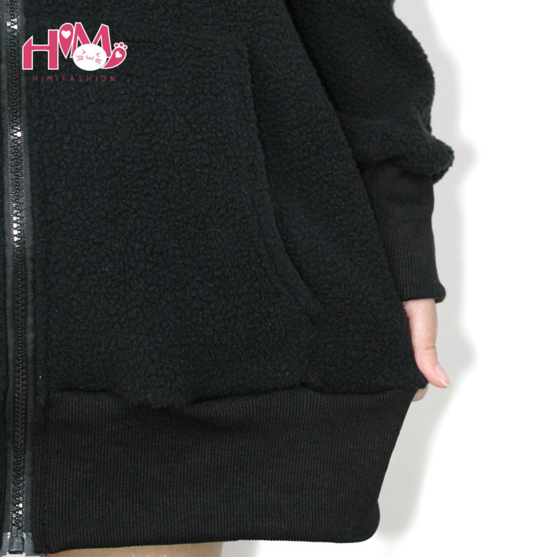 Bunny Ear Vivi Jackets Women Winter Kawaii Jacket Japanese Cute Coat Pink  Lolita Ladies Out Coats Wool Free Shipping-in Wool & Blends from Women's