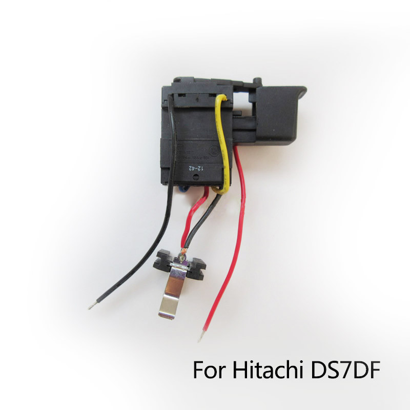 Free Shipping! Replacement  Electric hammer Drill Switch for Hitachi DS7DF,  Wholesale Power Tool Accessories free shipping electric hammer drill stepless speed regulating switch for makita mt603 mt651 power tool accessories