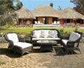 6-pcs buena calidad marco de aluminio rota DEL PE muebles de jardín muebles de Jardín conjunto de ocio sofá al aire libre para el transporte por mar