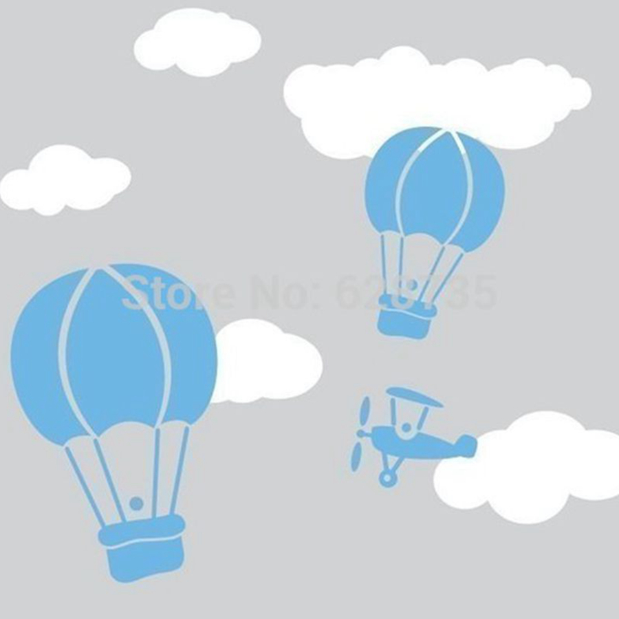 Aliexpress : Buy Cute Hot Air Balloon Wall Sticker Creative Balloon  Clouds Baby Nursery Wall Decals Diy Vinyl Sticker For Kids Room Free  Shipping From