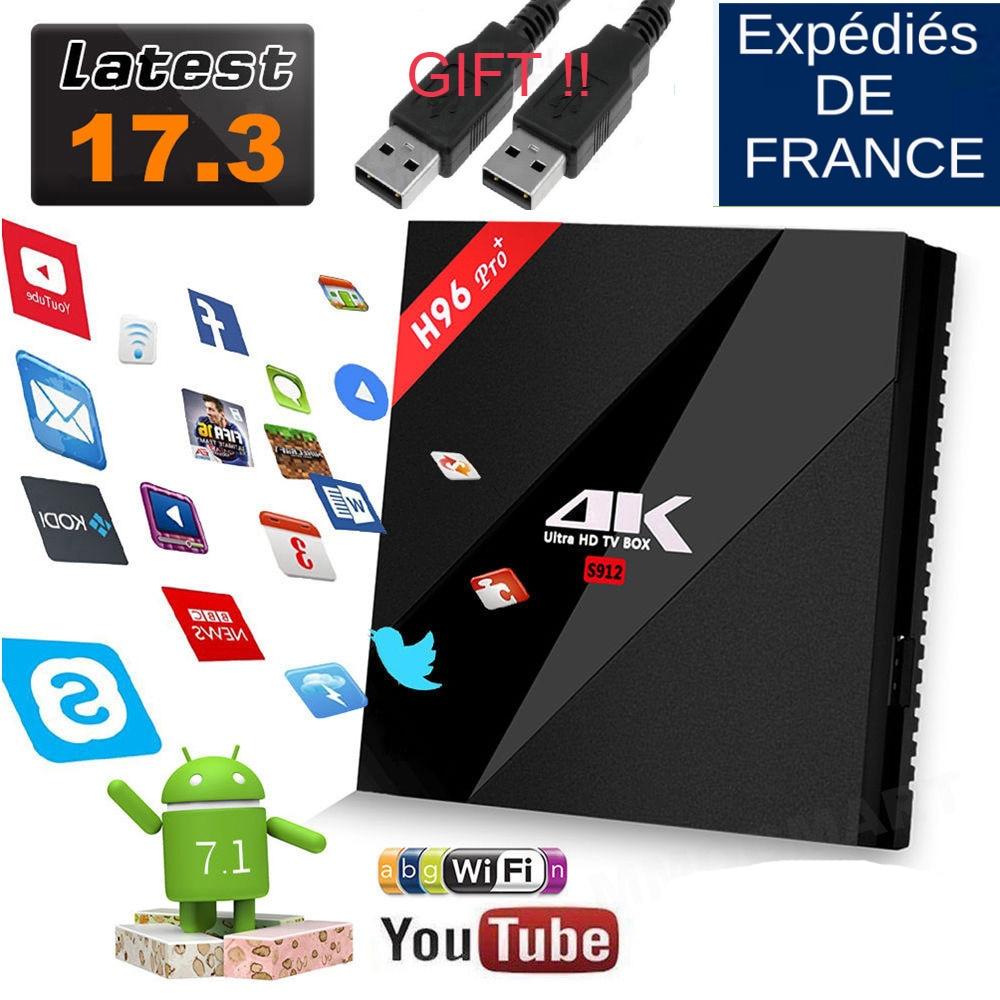 Original h96 pro plus 3GB 32GB/2G 16G Amlogic S912 H96 Pro+ Octa Core 2.4G/5GHz Wifi 4K BT 4.1 kodi 17.3 android 7.1 tv box