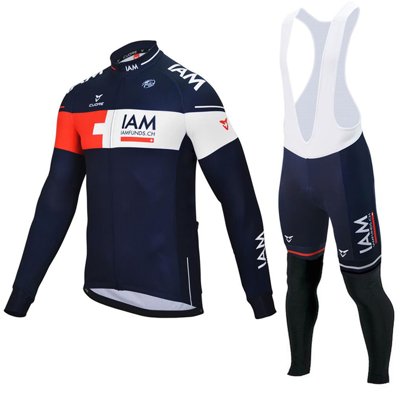High Quality Long Sleeve Team Autumn Breathable Tops Cycling Jerseys 2016 new Long sleeve Cycling Clothing/Ropa Ciclismo IAM rock racing cycling clothing couple jerseys short sleeve high quality paladinsports christmas design