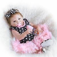 22 Full Body Silicone Bebe Reborn Doll 55cm More Lifelike Vinyl Baby Newborn Girl Baby Toy Lovely Birthday Gift Waterproof Body