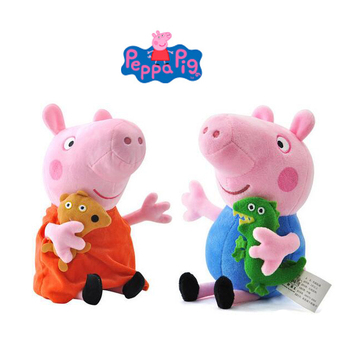 Kuscheltiere 1 pc Peppa pig George pepa Pig Family Plush Toys 19cm Stuffed Doll Party decorations Ornament Keychain Toys For Children