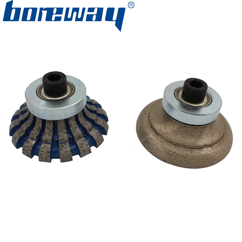 Boreway Diamond Router Bit O30 D80 M10 Profile For Edging Granite Marble Stone For Portable Profiling