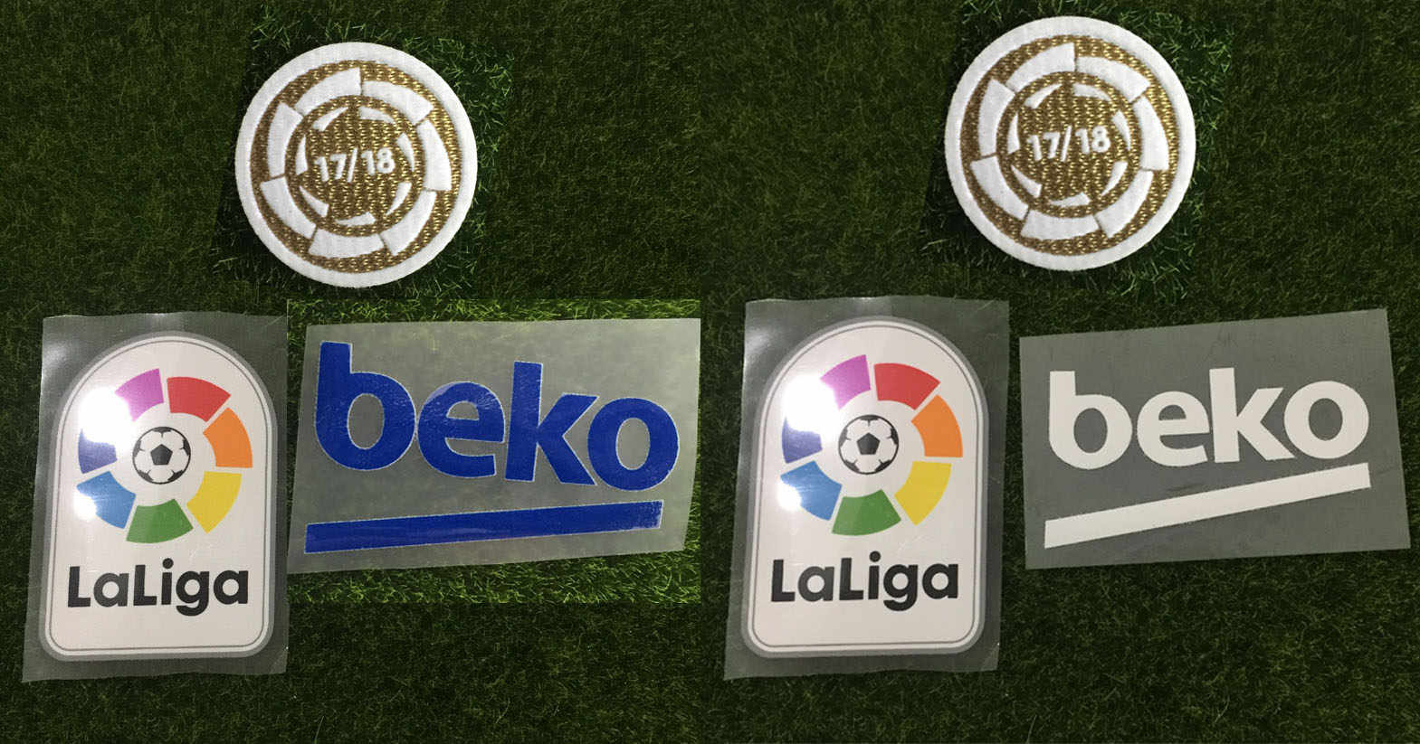 2019 La Liga Champions Patch La Liga Lfp Patch En Beko Patch Warmteoverdracht Badge