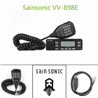 VV 898E DualBand 5W/10W/25W Transceiver VHF/UHF 136 174/400 470MHz Mobile Car Vehicle Radio LEIXEN VV 898 Upgrade Version Cable