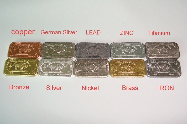 Free Shipping 1gram Bullion Bars 999 Pure Copper German