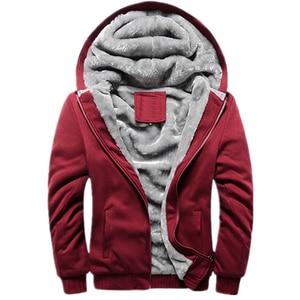 Image 4 - FOJAGANTO mężczyźni ciepły kardigan bluzy topy jesień zima mężczyzna dorywczo zagęścić jednolity kolor odzież męska bluza z kapturem bluza