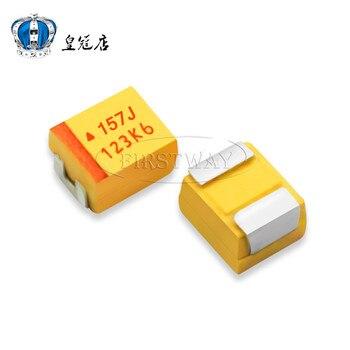 SMD condensatore di tantalio 157 j 6 V 150 uf 6.3 V B 3528/1210 di tipo B bile capacità