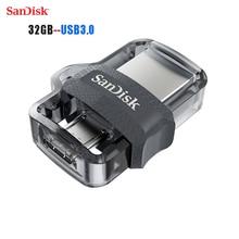 SanDisk Original OTG USB Flash Drive 32GB 16GB USB 3 0 Dual Mini Pen Drives 128GB