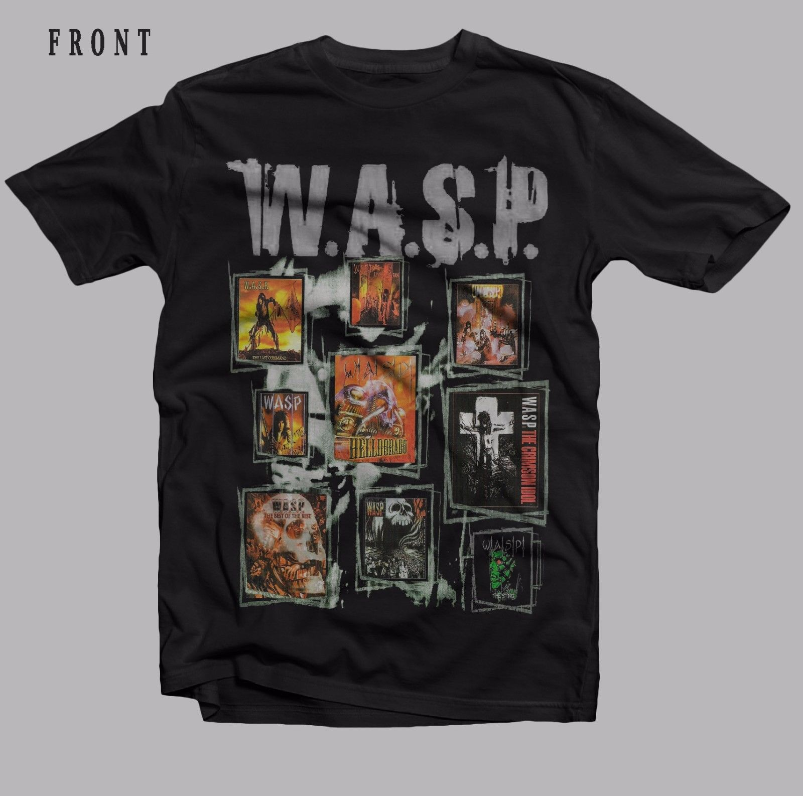 W.A.S.P.-American heavy metal band-Judas Priest ,T-shirt-SIZES: S to 7XL