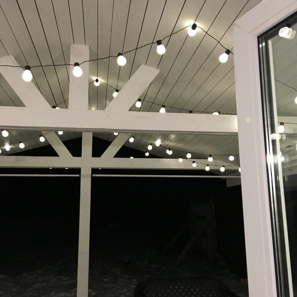 10 M 38 LED guirlande lumineuse d'extérieur fée lumières guirlande G50 ampoules jardin Patio mariage décoration de noël chaîne lumineuse étanche - 3