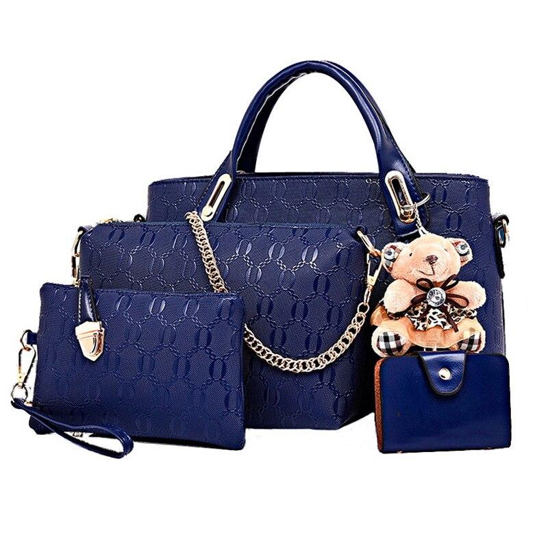 Image 2 - Famous designer SUUTOOP luxury brands women bag set good quality medium women handbag set  new women shoulder bag 4 piece Set-in Shoulder Bags from Luggage & Bags