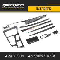 Riderstorm Carbon Fiber Styling Interior Accessories For BMW 5 Series F10 F18 535i 523i 2011 2015 Rapair Sticker Parts