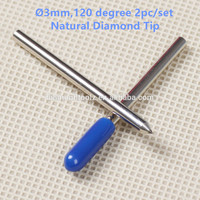 Talentool 2pcs Lot Natural Diamond Engraver Drag Bit With 120 Degree Dia 3 175mm For Engraving