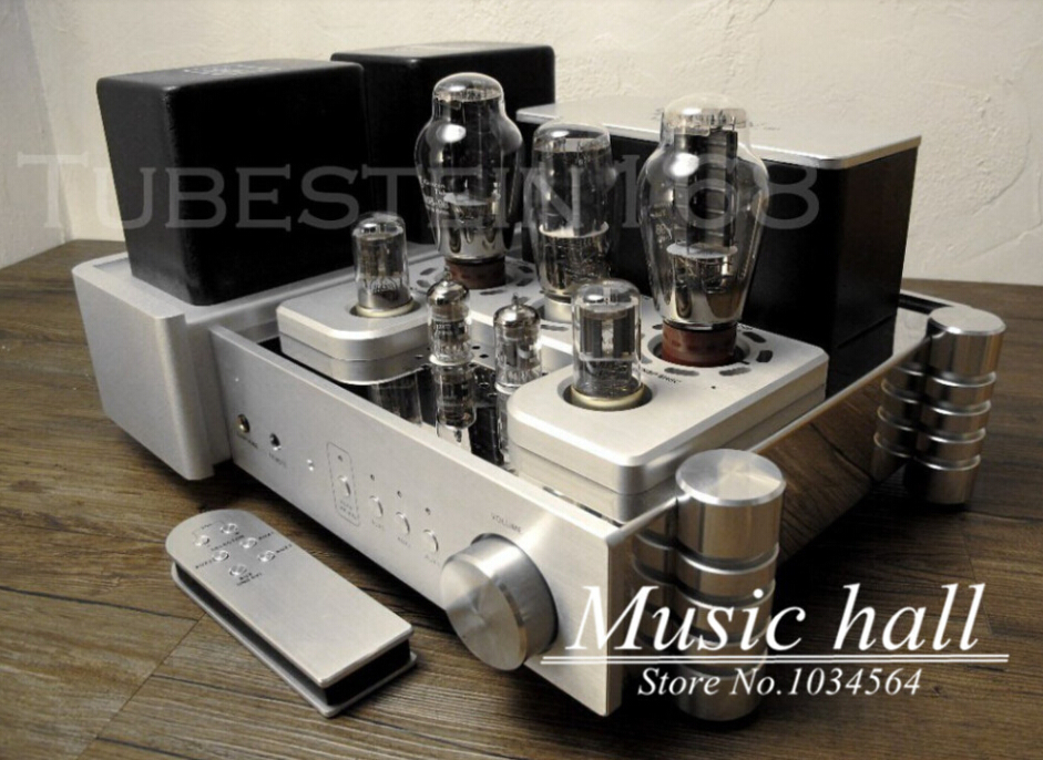 YAQIN MS-300C 300Bx2 Vacuum Tube Hi-end Single-ended class A Tube Integrated Amplifier PUS with remote control free shipping yaqin ms 110b vacuum tube integrated amplifier brand new