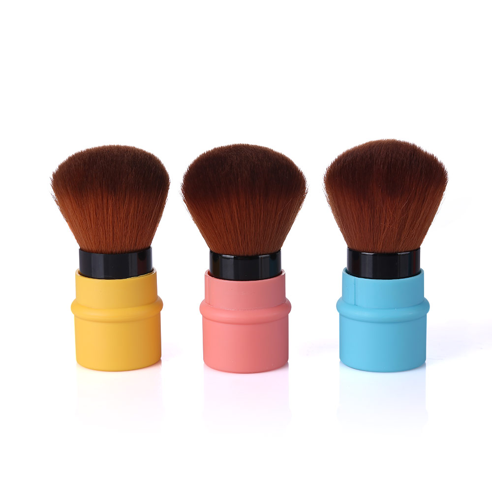LAMEILA Retractable Makeup Brush Pro Foundation Cosmetic Face Powder Blush Cheek Makeup Brushes & Tools Korean Beauty bluefrag versatile domed stippling brush duo fiber makeup brush for face cheek powder foundation blush makeup tools blbr0134