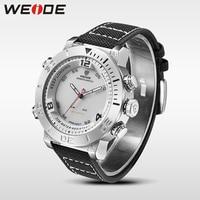 WEIDE Watch Luxury Quartz Watch Sport Digital Nylong Watch Fashion Casual Water Resistant White Alarm Clock