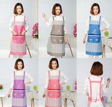 1PC women creative printed Funny kitchen apron with pocket hand towel household cleaning accessories cooking LB 405