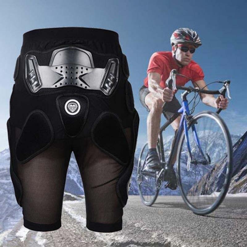 New Cycling Men Shorts Off-road Motor Ski Hip Protection Short MTB Bicycle Shorts Racing Cycling Downhill Shorts Black