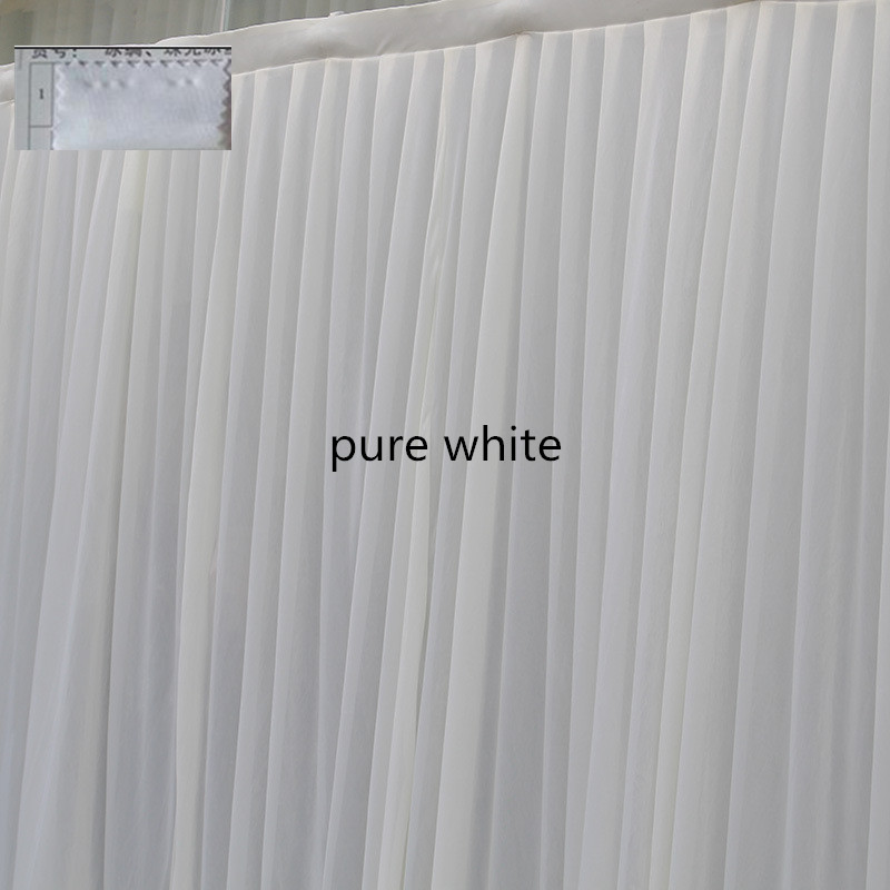 Hot Pink Wedding Backdrop Sequins Swag 3M6M Ice Silk White Curtain Drapes Stage Background Event Party Decoration In Backdrops From Home Garden On
