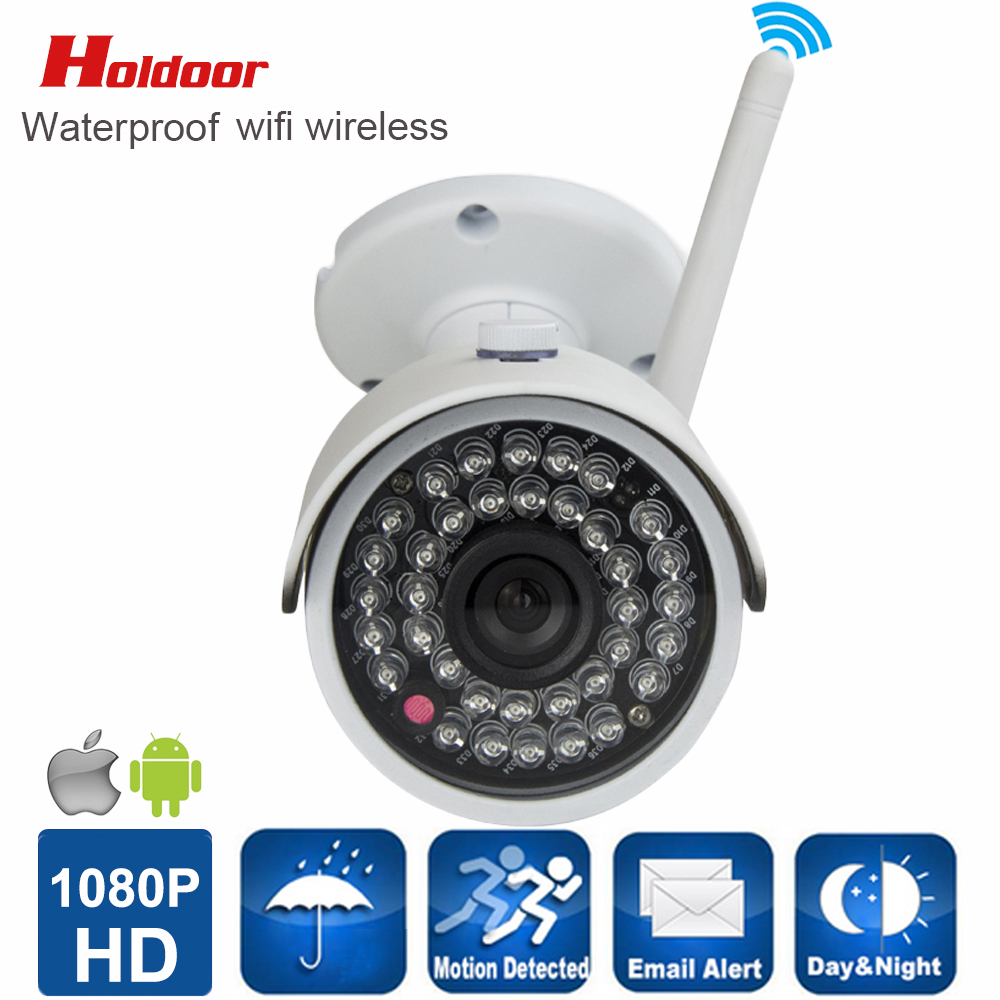 ФОТО cctv security wifi ip camera 1080p hd IR Cut IR LED night view waterproof IP66 record motion detection video With micro SD slot