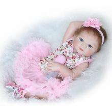 23″57cm Full Body Silicone Reborn Baby Doll Toys Bathe Shower Toy Lifelike  Newborn Girl Babies Child Brithday Gift  Brinquedos