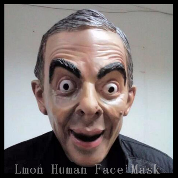 Hot Party <font><b>Costume</b></font> Realistic Latex Celebrity Mask Donald Trump/Obama/<font><b>Mr</b></font>.<font><b>Bean</b></font>/Putin Mask Full Head Human Mask Adults Face Mask Toy image