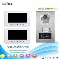 Smartyiba 7インチカラーモニター有線ビデオドア電話ドアベルエントリーインターホンモニターシステムでrfidアクセスドアベルカメラ -