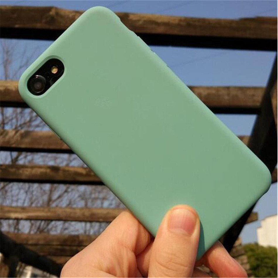 Original Silicone Case on iPhone 7 8 6 6S Plus X 5s 06
