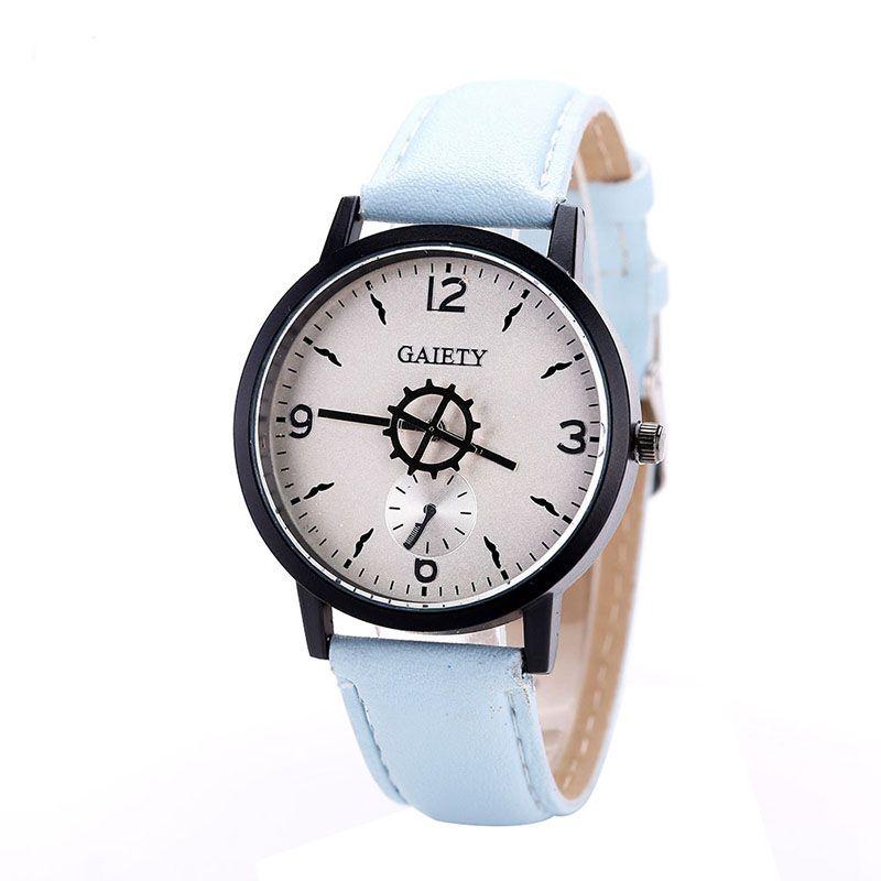 Stylowa osobowość Fashion Women Business Watch PU Watchband Casual - Zegarki damskie - Zdjęcie 4